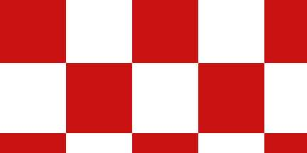 FLG CKWR - Red/White Checkerboard Flagging